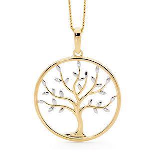 9 kt guld Tree of Life Vedhæng blank fra Bee Jewelry