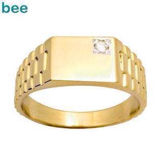 "Bee Jewelry Men´s Diamond Ring - ""Rolex Look"" 9 kt guld fingerring blank, model 24637"