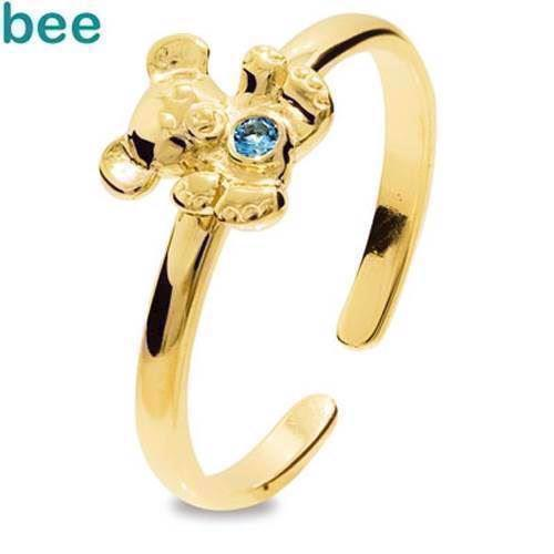 Bee Jewelry Girls First Gold Ring 9 kt guld fingerring blank, model 25291-SPAQ-K