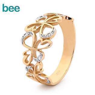 Bee Jewellery, Angel Ring  9 kt guld fingerring blank, model 25592