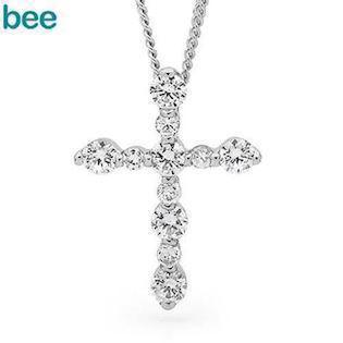 Bee Jewelry Zirkonia Cross sølv Collie blank, model 35448-CZ