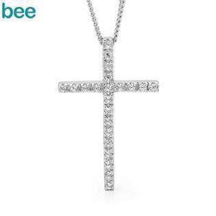 Bee Jewelry Zirkonia Cross sølv Collie blank, model 35449-CZ