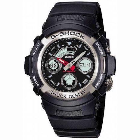 Casio G-Shock sort ur med stål, AW-590-1AER