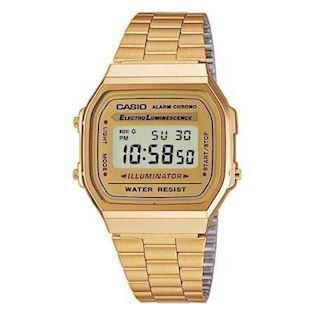 Forgyldt klassisk herre Casio digital ur