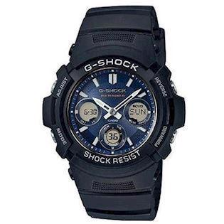 G-Shock sort resin med stål quartz multifunktion (5230) Herre ur fra Casio, AWG-M100SB-2AER