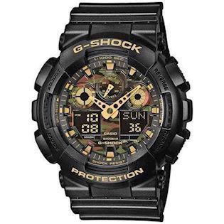 G-Shock sort resin med stål quartz multifunktion (5081) Herre ur fra Casio, GA-100CF-1A9ER