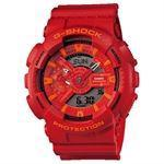 Casio G-Shock rødt/orange XL anlog/digitalt ur, GA-110AC-4AER