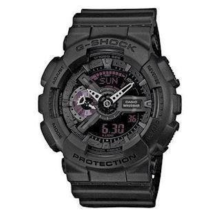 G-Shock sort resin med stål quartz multifunktion (5146) Herre ur fra Casio, GA-110MB-1AER