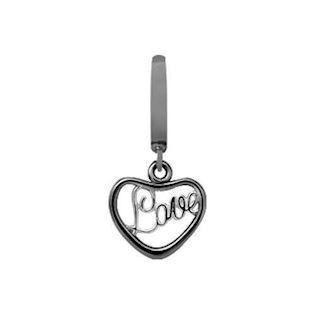 610-B16 , Heart Love Charm fra Christina Design London