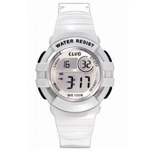 Club Time hvidt Gummi Quartz ur fra Club Time, A47101H0E