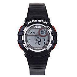 Club Time Sort Gummi Quartz Drenge ur fra Club Time, A47101SS5E