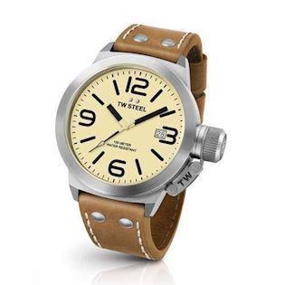 Canteen 45 mm cream Quartz Herre ur fra TW Steel