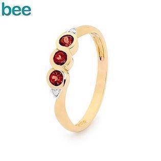 Bee Jewelry  9 kt guld Fingerring blank, model 25325-GT