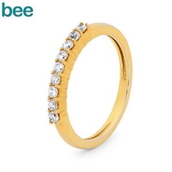 Bee Jewelry  9 kt guld Fingerring blank, model 25567-CZ