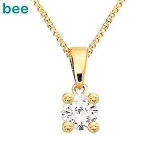 Bee Jewelry Solitaire 0,10 ct H-SI 9 karat vedhæng blank, model 60985_A10