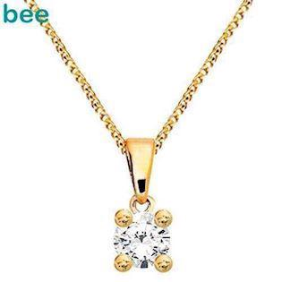 Bee Jewelry Solitaire 0,05 ct I-P1 9 karat vedhæng blank, model 60985_B05