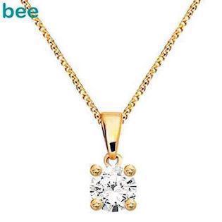 Bee Jewelry Solitaire 0,15 ct I-P1 9 karat vedhæng blank, model 60985_B15