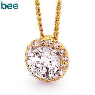 Bee Jewelry  9 kt guld Collier blank, model 65527-CZ