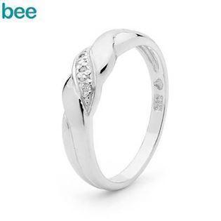 Bee Jewelry Astelia  9 kt hvidguld Fingerring blank, model W21850