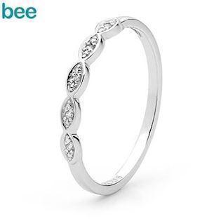 Bee Jewelry  9 kt hvidguld Fingerring blank, model W25358