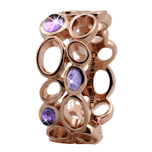 Christina Collect rosa forgyldt samle ring - Big Amethyst Bubbles