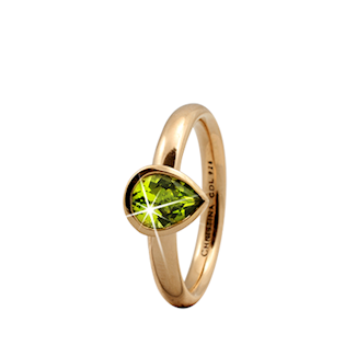 Christina Collect forgyldt ring - Peridot Pearl - TILBUD