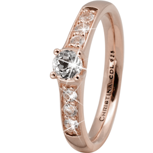 Christina Collect rosa forgyldt samle ring - Topaz Princess