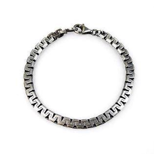 925 sterling sølv Men's Silver Chains armbånd blank fra San Design