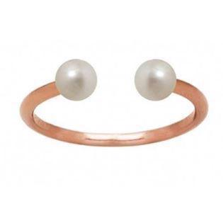 rosa forgyldt sterling sølv Pearl Duo Top fingerring blank fra Zöl
